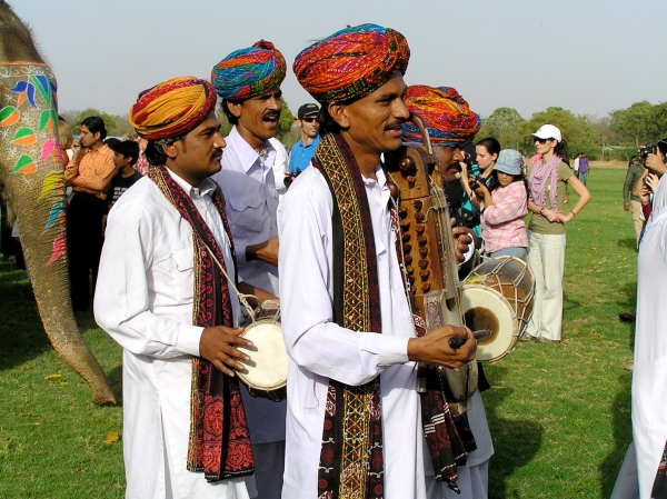 DRUMMERS AT THE ELEPHANT FESTIVAL