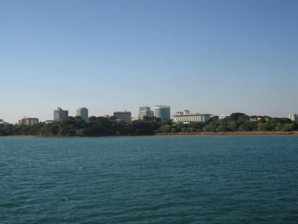 A VIEW OF DARWIN FROM THE DECK OF THE ORION CRUISE SHIP