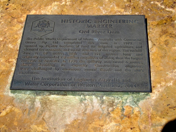 ord river plaque