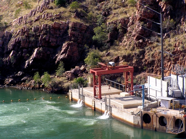 PUMPING STATION AT THE ORD RIVER DAM