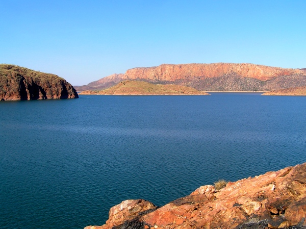 LAKE ARGYLE SEEN FROM THE ORD RIVER DAM