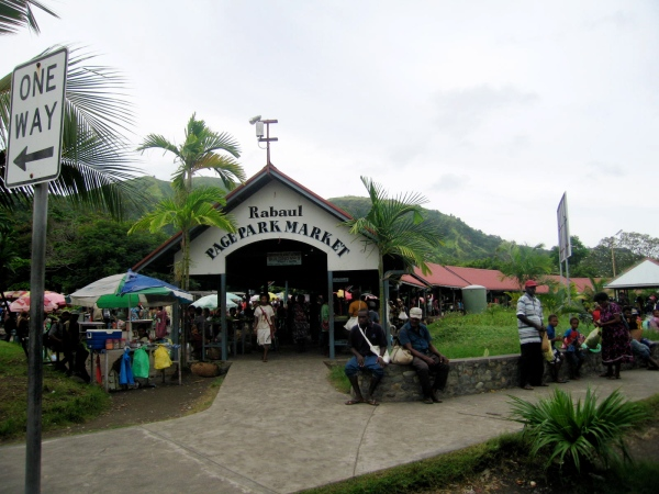 ENTRANCE TO THE RABAUL TOWN MARKET
