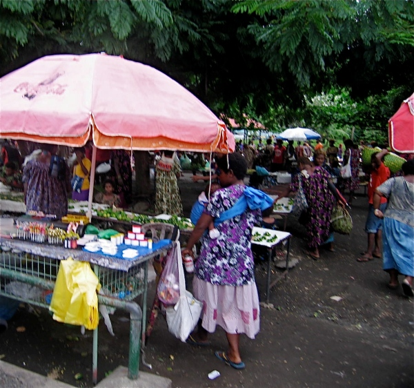A VENDOR AT THE MARKET