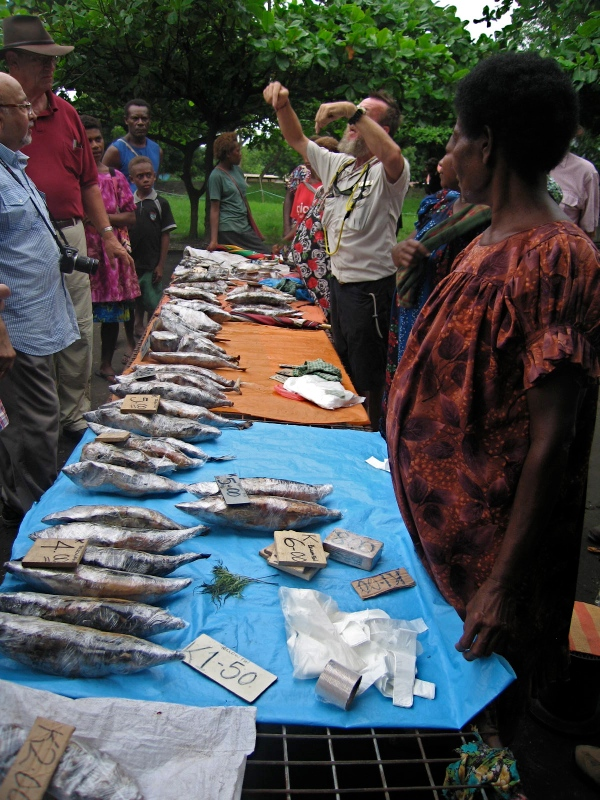 FISH THAT HAS JUST BEEN CAUGHT IS SOLD AT THE MARKET