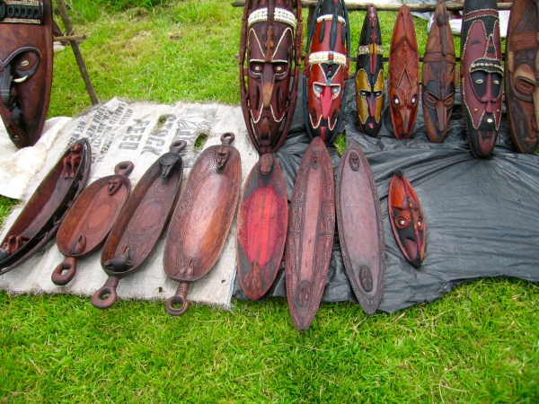 THESE MASKS ARE CARVED AND MADE FROM QUILLA OR EBONY WOOD
