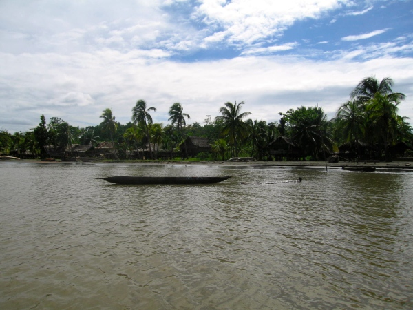 DUGOUT CANOES USED ON THE SEPIK RIVER