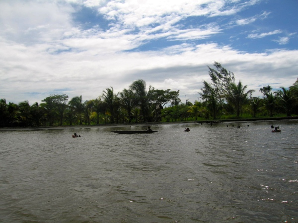 AT THE MOUTH OF THE SEPIK RIVER IN EASTERN PAPUA NEW GUINEA