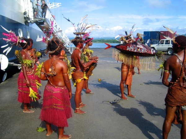 THESE DANCERS ARE FROM BARIM A VILLAGE NEAR MADANG