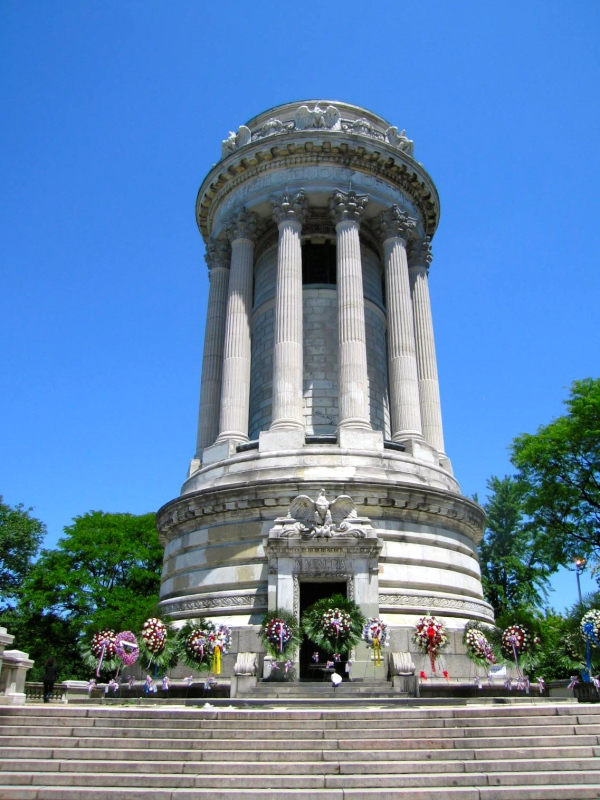 WREATHS PLACED AT THE SOLDIERS' AND SAILORS' MONUMENT TODAY MEMORIAL DAY MAY 27  2013
