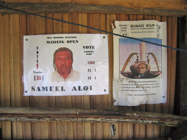 POLITICAL POSTERS IN MADANG