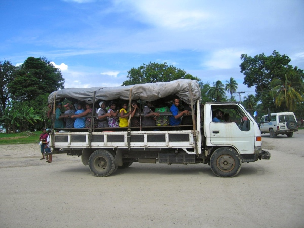 PUBLIC MOTOR VEHICLE (PMV) USED FOR TRANSPORTATION IN MADANG