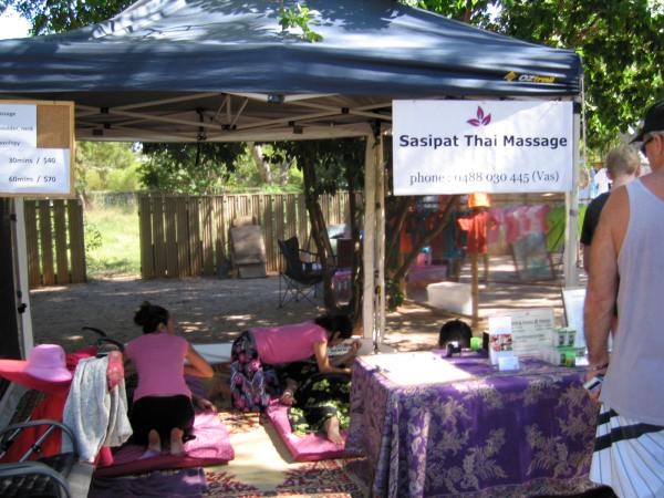 THAI MASSAGE IS AVAILABLE AT THE BROOME MARKETS