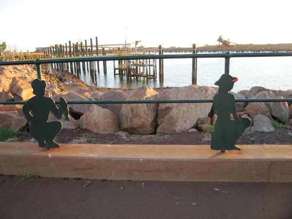 INTERESTING RAILING AT THE PORT HEDLAND WHARF