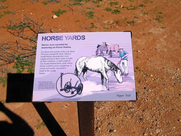 SIGN ABOUT THE HOMESTEAD HORSE YARDS