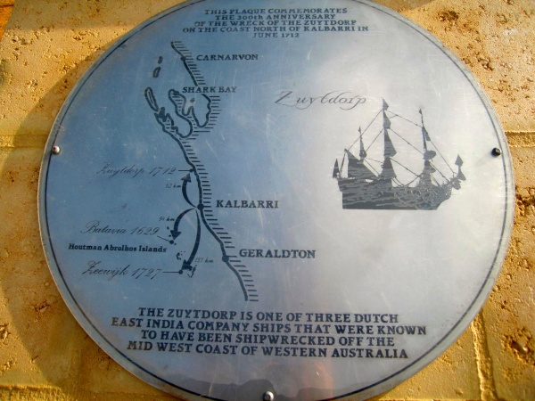 PLAQUE AT THE ZUYTDORP LOOKOUT