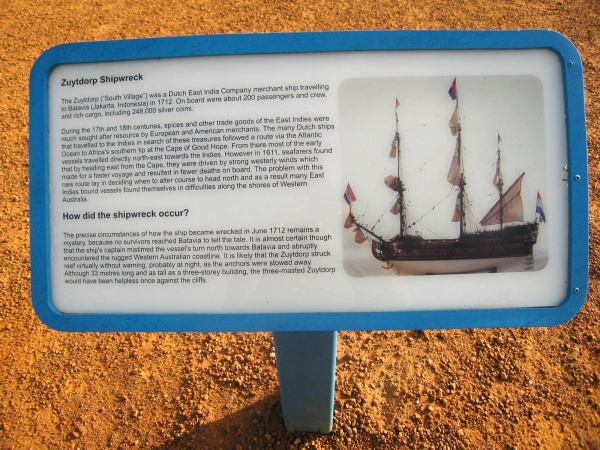ZUYTDORP SHIPWRECK SIGN