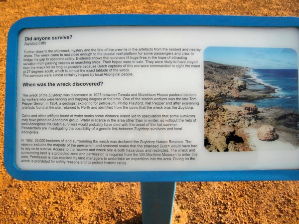 ZUYTDORP CLIFFS SIGN