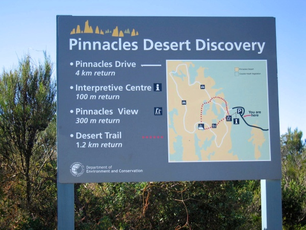 SIGN AT THE PINNACLES VISITOR CENTER