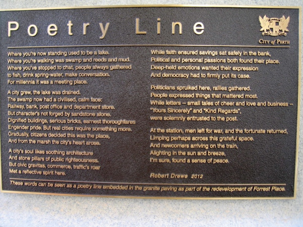 POETRY LINE  PLAQUE IN FRONT OF THR POST OFFICE