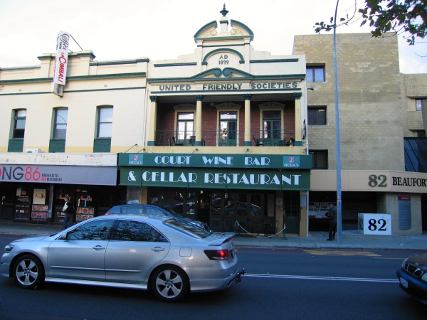 United Friendly Societies A.D. 1899 The building in Beaufort Street is an example of Federation Free Classical style.