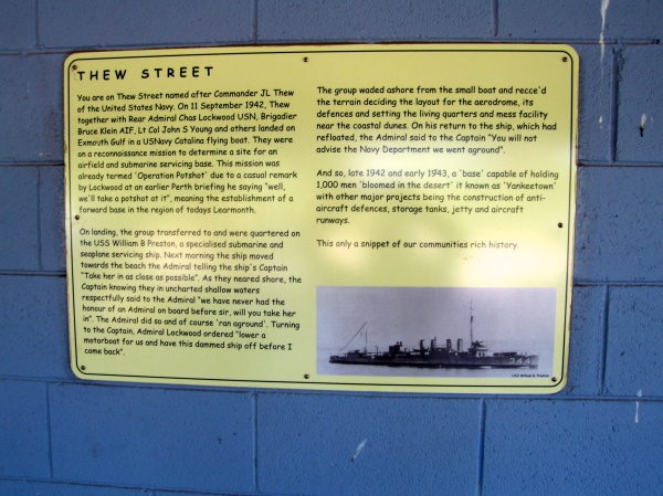 A HISTORY SIGN IN THE TOWN OF EXMOUTH