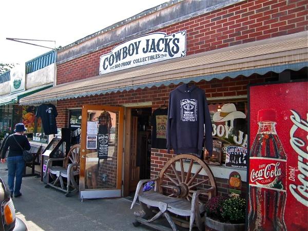 Cowboy Jack's Shop selling Jack Daniels souvenirs