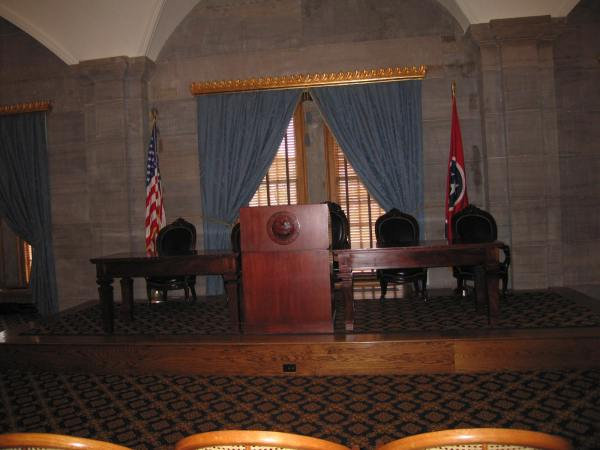 TENNESSE STATE CAPITOL SUPREME COURT CHAMBER