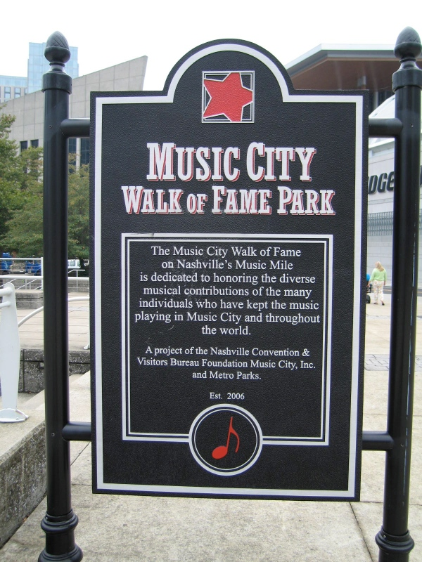 MUSIC CITY WALK OF FAME PARK -  Nashville has its own Walk of Fame. The Music City version focuses solely on music, honoring those who have made contributions to the Nashville music scene with stars in the sidewalk. The Music City Walk of Fame is in a park across the street from the Country Music Hall of Fame, so you may think all the honorees are country artists. That's a reasonable assumption when you pass names like Reba McEntire, Alan Jackson, and Dolly Parton. But then you'll see a name that stops you in your tracks. What connection does Seattle-born Jimi Hendrix have to Nashville? Turns out he lived there in 1962 after he completed military service nearby. Other non-country acts recognized at the Walk of Fame include Michael McDonald, CeCe Winans, Kid Rock, Steve Winwood, and Kings of Leon, who just got their star in September.
