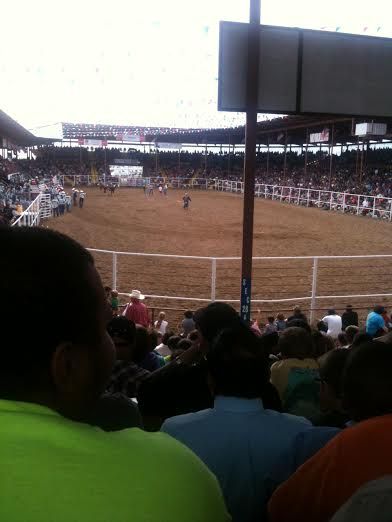 ANGOLA PRISON RODEO SEEN FROM THE STANDS
