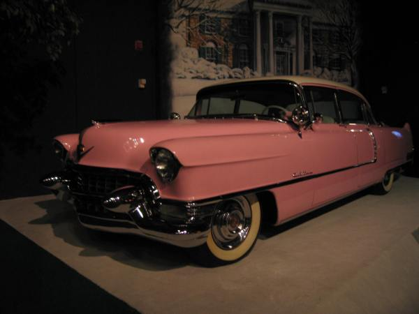 "1955 Cadillac Fleetwood. Elvis used this car touring and then gave the car to his mom. He often referred to it as ""Glady's Car""."