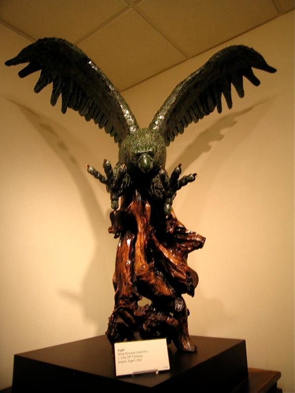 BELZ MUSEUM MEMPHIS EAGLE QING DYNATY JASPER, TIGER'S EYE
