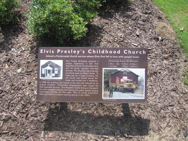 ELVIS PRESLEY CHILDHOOD CHURCH