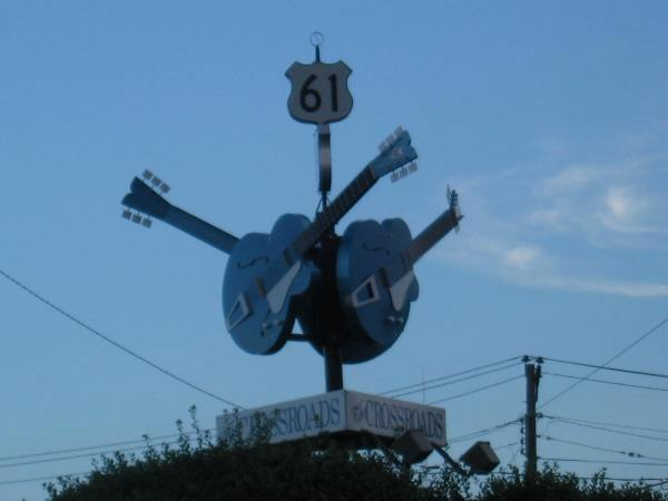 The crossroads where legend has it blues guitarist Robert Johnson sold his soul to the devil.