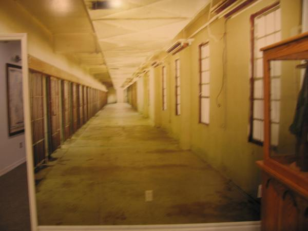 LOUISIANA STATE PENITENTIARY MUSEUM  -  PHOTO OF PRISON CELL BLOCK