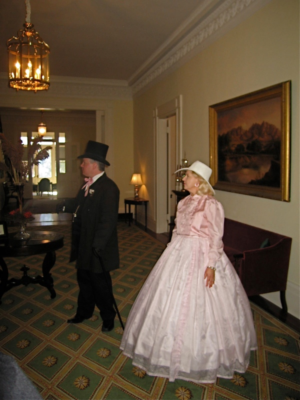 BRANDON HALL GUIDES IN PERIOD COSTUMES