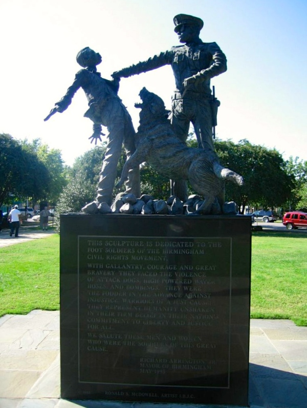 KELLY INGRAM PARK  -  The Foot Soldier Sculpture by Ronald S. McDowell