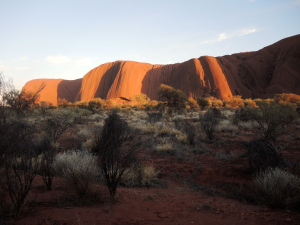 ULURU AT 7 AM IN THE MORNING  -  Aboriginal Anangu People have lived and managed this country for thousands upon thousands of years. Archaeological evidence shows Aboriginal people have lived in Central Australia for at least 30,000 years.