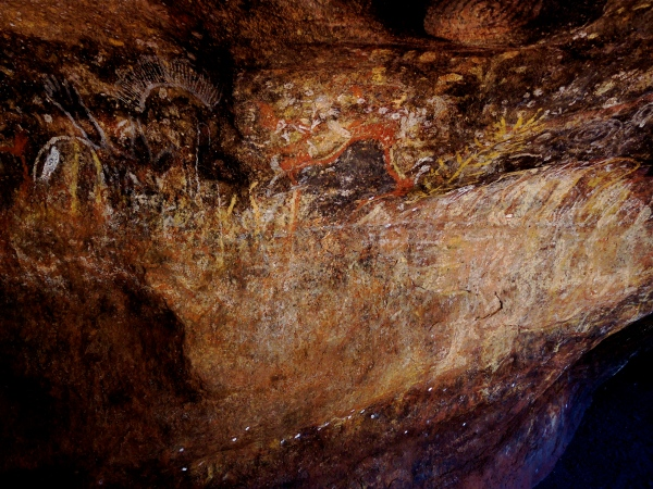 ULURU   -   ANANGU ROCK ART (DETAIL)