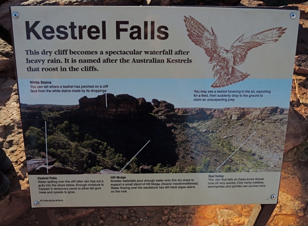 KINGS CANYON SIGN  -  KESTREL FALLS