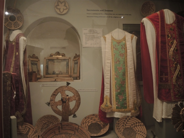 San Xavier Del Bec Mission  -  display of the vestments