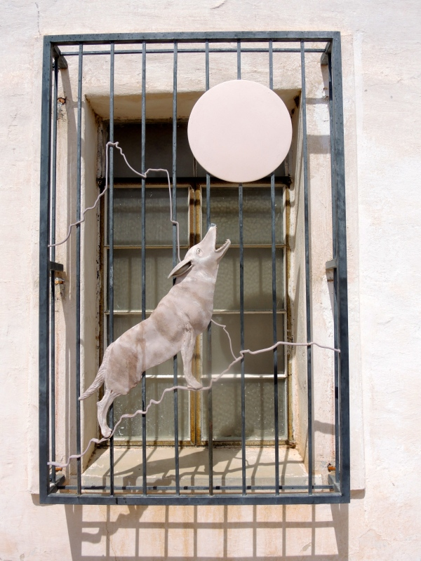San Xavier Del Bec Mission  -  decorative window guard
