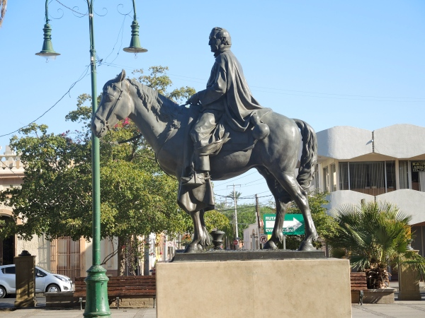 STATUE OF PADRE EUSEBIO KINO  -  Eusebio Francisco Kino, was a Jesuit priest from a town which is now a part of northern Italy. For the last 24 years of his life he worked in the region then known as the Pimería Alta, modern-day Sonora in Mexico and southern Arizona.