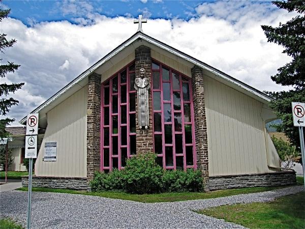 CANMORE. ALBERTA  = ST.MARYS ATHOLIC CHURCH