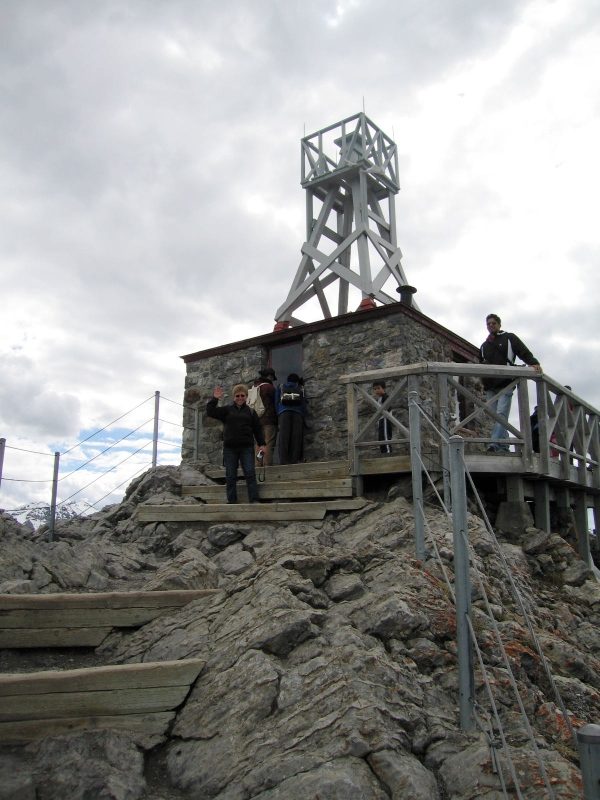 WEATHER STATION  -- View of the weather station perched on the summit of Sulphur Mountain just above where the dismantled Cosmic Ray Station once stood