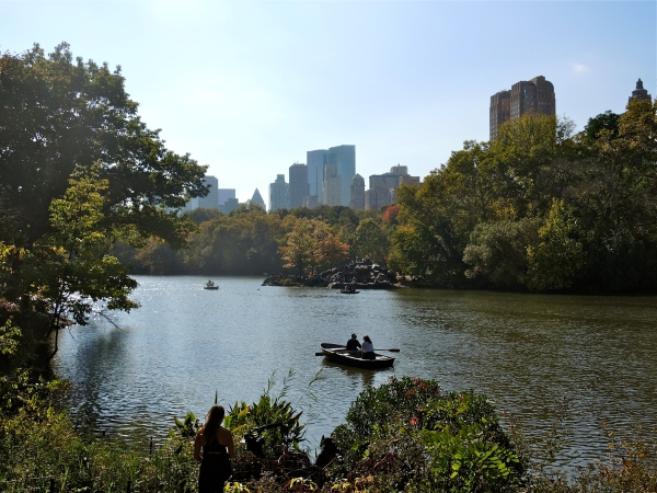 THE LAKE AND CENTRAL PARK SOUTH IN THE BACKGROUND