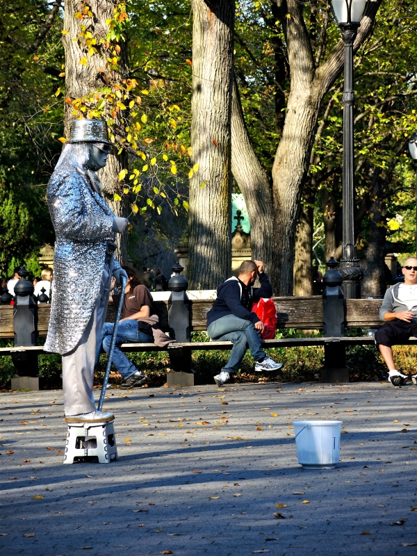 STREET PERFORMER - LIVING STATUE  - CENTRAL PARK