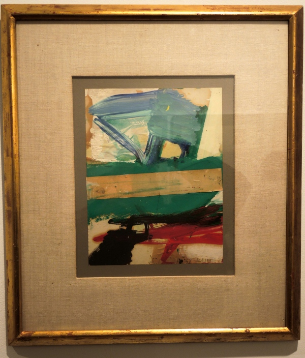 FRANZ KLINE (1910 - 1962) COMPOSITION, 1958 OIL AND PAPER, COLLAGE ON PAPER 10 7/8 X 8 3/8 INCHES