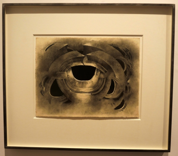 LEE BONTECOU UNTITLED, 1963 SOOT AND PENCIL ON PAPER 9 3/4  X  13 INCHES