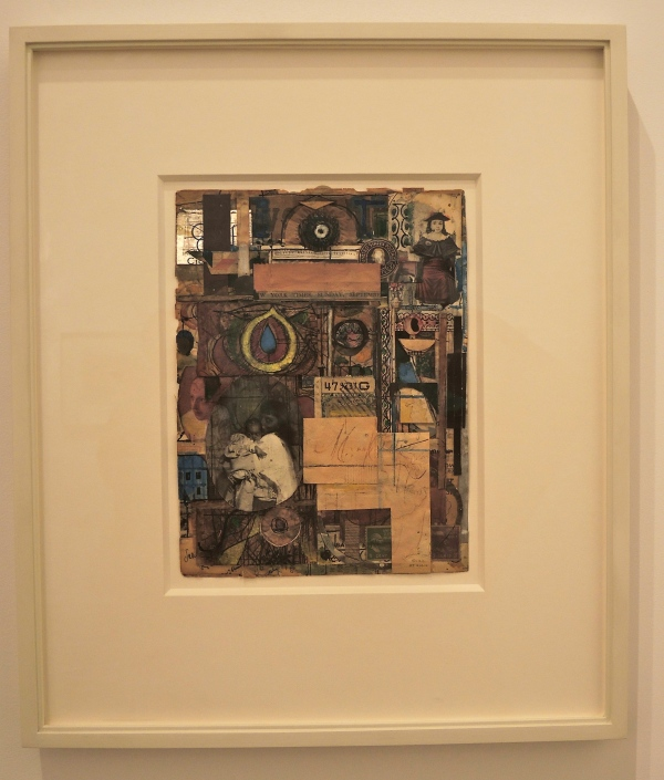 RICHARD POUSETTE-DART (1916 - 1992) UNTITLED, ca, 1947 COLLAGE 16 1/4  x  13  inches