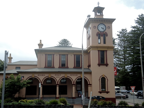 KIAMA POST OFFICE  -   The Italianate post office building was completed in 1878, it was designed by then-colonial architect James Barnet. A Victorian Classical Revival structure, its colonnades and tall, square clock tower contribute significantly to the townscape.
